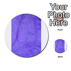 Purple Modern Leaf Multi Purpose Cards (round)