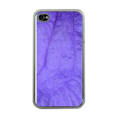 Purple Modern Leaf Apple Iphone 4 Case (clear) by timelessartoncanvas