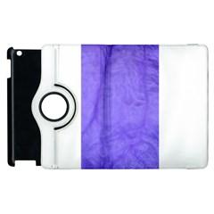 Purple Modern Leaf Apple Ipad 3/4 Flip 360 Case by timelessartoncanvas