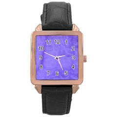 Purple Modern Leaf Rose Gold Leather Watch  by timelessartoncanvas
