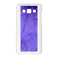 Purple Modern Leaf Samsung Galaxy A5 Hardshell Case  by timelessartoncanvas