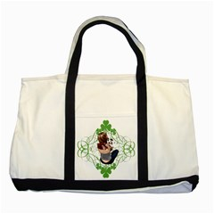Pit Bull T Bone Lucky Puppy Two Tone Tote Bag by ButThePitBull