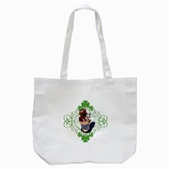 Pit Bull T Bone Lucky Puppy Tote Bag (white) by ButThePitBull
