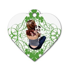 Pit Bull T Bone Lucky Puppy Dog Tag Heart (two Sides) by ButThePitBull