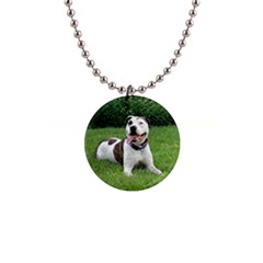 Pit Bull T Bone Button Necklaces by ButThePitBull