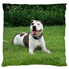 Pit Bull T Bone Standard Flano Cushion Case (two Sides) by ButThePitBull