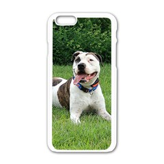 Pit Bull T Bone Apple Iphone 6/6s White Enamel Case by ButThePitBull