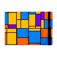 Retro Colors Rectangles And Squares apple Ipad Mini Flip Case by LalyLauraFLM