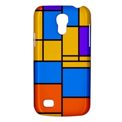 Retro Colors Rectangles And Squares samsung Galaxy S4 Mini (gt I9190) Hardshell Case
