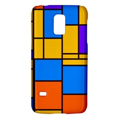 Retro Colors Rectangles And Squares 			samsung Galaxy S5 Mini Hardshell Case by LalyLauraFLM