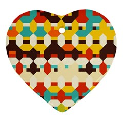 Shapes In Retro Colors 			ornament (heart) by LalyLauraFLM