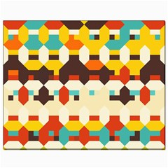 Shapes In Retro Colors 			canvas 8  X 10  by LalyLauraFLM