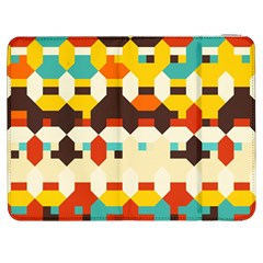 Shapes In Retro Colors 			samsung Galaxy Tab 7  P1000 Flip Case by LalyLauraFLM