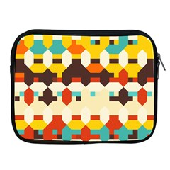 Shapes In Retro Colors 			apple Ipad 2/3/4 Zipper Case by LalyLauraFLM
