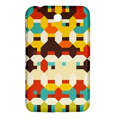 Shapes In Retro Colors samsung Galaxy Tab 3 (7 ) P3200 Hardshell Case by LalyLauraFLM
