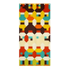 Shapes In Retro Colors shower Curtain 36  X 72  by LalyLauraFLM