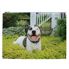 Pit Bull T Bone Cosmetic Bag (xxl)  by ButThePitBull