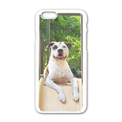 Pit Bull T Bone s Tree House Apple Iphone 6/6s White Enamel Case by ButThePitBull