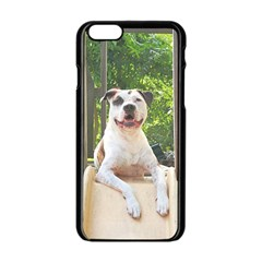 Pit Bull T Bone s Tree House Apple Iphone 6/6s Black Enamel Case by ButThePitBull