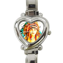 Indian 29 Heart Italian Charm Watch by indianwarrior