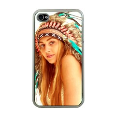 Indian 27 Apple Iphone 4 Case (clear) by indianwarrior