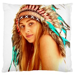 Indian 27 Standard Flano Cushion Case (One Side) by indianwarrior