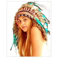 Indian 27 Drawstring Bag (small) by indianwarrior