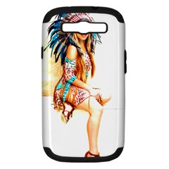 Indian 18 Samsung Galaxy S Iii Hardshell Case (pc+silicone) by indianwarrior