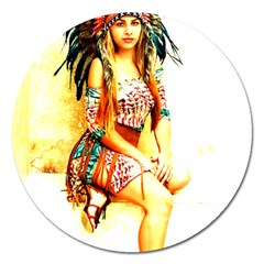 Indian 16 Magnet 5  (round) by indianwarrior