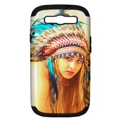 Indian 14 Samsung Galaxy S Iii Hardshell Case (pc+silicone) by indianwarrior