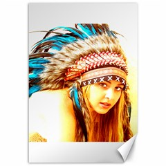 Indian 12 Canvas 12  X 18   by indianwarrior