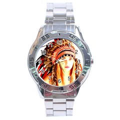 Indian 3 Stainless Steel Analogue Watch by indianwarrior