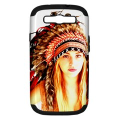 Indian 3 Samsung Galaxy S Iii Hardshell Case (pc+silicone) by indianwarrior
