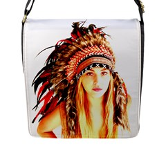Indian 3 Flap Messenger Bag (l)  by indianwarrior