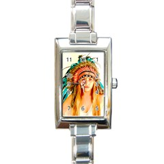 Indian 28 Rectangle Italian Charm Watch by indianwarrior