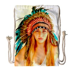 Indian 28 Drawstring Bag (large) by indianwarrior