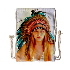 Indian 28 Drawstring Bag (small) by indianwarrior
