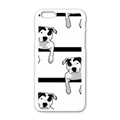 Pit Bull T Bone Graphic  Apple Iphone 6/6s White Enamel Case by ButThePitBull