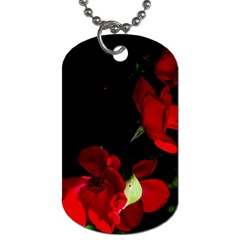 Roses 1 Dog Tag (one Side) by timelessartoncanvas
