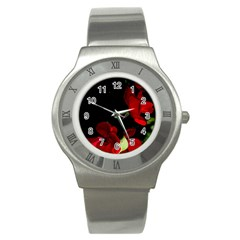 Roses 1 Stainless Steel Watch by timelessartoncanvas