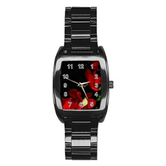 Roses 1 Stainless Steel Barrel Watch by timelessartoncanvas