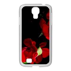 Roses 1 Samsung Galaxy S4 I9500/ I9505 Case (white) by timelessartoncanvas