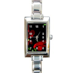 Roses 2 Rectangle Italian Charm Watch by timelessartoncanvas