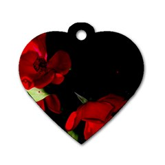 Roses 2 Dog Tag Heart (two Sides) by timelessartoncanvas