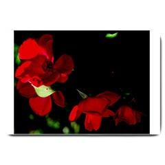 Roses 2 Large Doormat  by timelessartoncanvas