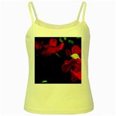 Roses 3 Yellow Spaghetti Tank by timelessartoncanvas