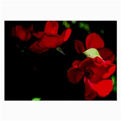 Roses 3 Large Glasses Cloth (2 Side) by timelessartoncanvas