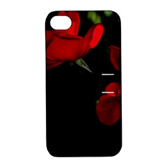 Roses 3 Apple Iphone 4/4s Hardshell Case With Stand by timelessartoncanvas