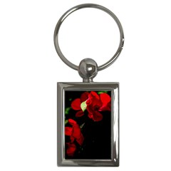 Roses 4 Key Chains (rectangle)  by timelessartoncanvas