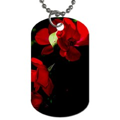 Roses 4 Dog Tag (one Side) by timelessartoncanvas